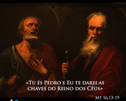 SOLENIDADE DOS APÓSTOLOS SÃO PEDRO E SÃO PAULO: « Tu és Pedro, e sobre esta pedra edificarei a minha Igreja »