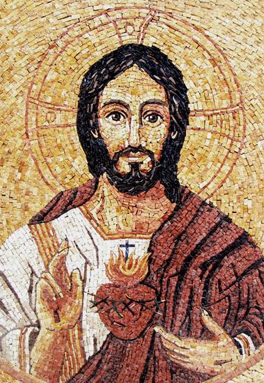 Sagrado Coração de Jesus - arte em mosaico