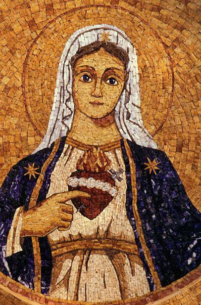 Imaculado Coração de Maria - arte em mosaico